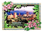 Asheville North Carolina Artwood Fridge Magnet