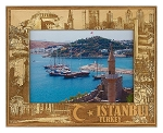 Istanbul Turkey Laser Engraved Wood Picture Frame (5 x 7)