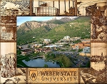 Weber State University Engraved Wood Picture Frame (5 x 7)
