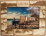 Aruba Montage Laser Engraved Wood Picture Frame (5 x 7)