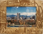 Denver Colorado Laser Engraved Wood Picture Frame (5 x 7)