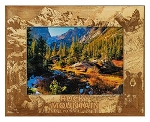Rocky Mountains National Park Laser Engraved Wood Picture Frame (5 x 7)