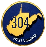 West Virginia 304 Area Code Artwood Fridge Magnet