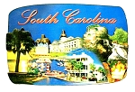 South Carolina Collage Artwood Fridge Magnet
