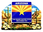 Arizona State Welcome Sign Artwood Fridge Magnet