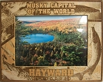 Musky Capital of the World Hayward Wisconsin Laser Engraved Wood Picture Frame (5 x 7)