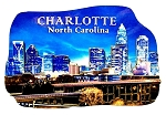 Charlotte North Carolina Artwood Fridge Magnet