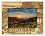 Great Smoky Mountains Laser Engraved Wood Picture Frame (5 x 7)