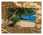 Jamaica Laser Engraved Wood Picture Frame (5 x 7)