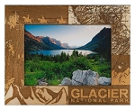 Glacier National Park Laser Engraved Wood Picture Frame (5 x 7)
