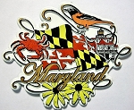 Maryland Scroll Fridge Magnet Design 27