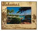 Bahamas Laser Engraved Wood Picture Frame (5 x 7)