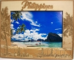 Philippines Laser Engraved Wood Picture Frame (5 x 7)