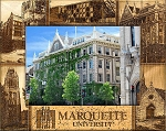 Marquette University Laser Engraved Wood Picture Frame (5 x 7)