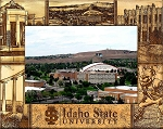 Idaho State University Engraved Wood Picture Frame (5 x 7)