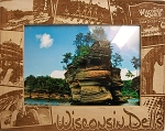 Wisconsin Dells Montage Laser Engraved Wood Picture Frame (5 x 7)