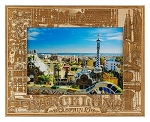 Barcelona Spain Laser Engraved Wood Picture Frame (5 x 7)