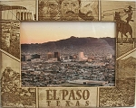 El Paso Texas Laser Engraved Wood Picture Frame (5 x 7)