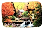 West Virginia Babcock State Park Artwood Fridge Magnet