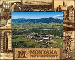 Montana State University Engraved Wood Picture Frame (5 x 7)