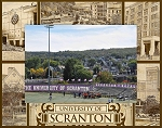 University of Scranton Laser Engraved Wood Picture Frame (5 x 7)