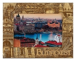 Budapest Laser Engraved Wood Picture Frame (5 x 7)