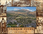 Brigham Young University Engraved Wood Picture Frame (5 x 7)