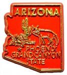 Arizona State Outline Magnet