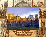 Boston College Laser Engraved Wood Picture Frame (5 x 7)