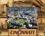 University of Cincinnati Laser Engraved Wood Picture Frame (5 x 7)