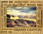 Grand Canyon National Park Points of Interest Engraved Wood Picture Frame (5 x 7)