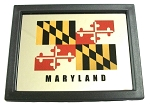 Maryland with Flag Design Mirror Fridge Magnet