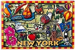 New York Cartoon Magnet