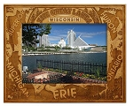 The Great Lakes Wisconsin Engraved Wood Picture Frame (5 x 7)