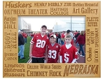 Nebraska Key Places Laser Engraved Wood Picture Frame (5 x 7)