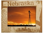 Nebraska Laser Engraved Wood Picture Frame (5 x 7)