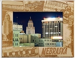 Nebraska Collage Laser Engraved Wood Picture Frame (5 x 7)