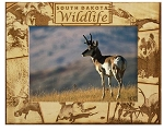 South Dakota Wildlife Laser Engraved Wood Picture Frame (5 x 7)