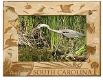 South Carolina with Birds Laser Engraved Wood Picture Frame (5 x 7)