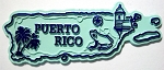 Puerto Rico Map Fridge Magnet Design 2