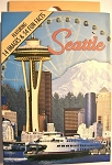 Seattle With Sky Wheel Souvenir Playing Cards Design 1