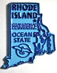 Rhode Island State Outline Fridge Magnet Design 10