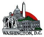 Washington D.C. United States 4 Color Collage Fridge Magnet