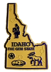 Idaho the Gem State Map Fridge Magnet