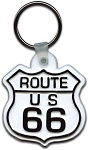 Route 66 Road Sign Plastic Keychain Design 1