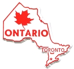Ontario Canadian Province Outline Fridge Magnet