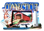 Connecticut Montage Artwood Magnet