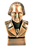 George Washington 1st President Bust Die Cast Metal Collectible Pencil Sharpener