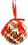 Maryland Flag Design Ball Christmas Tree Ornament