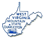 West Virginia State Outline Fridge Magnet